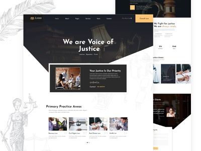 Law Home Page design lawn law firm lawyer agency business law