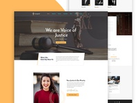 Law Firm Website Landing page