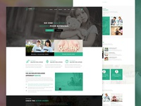 Charity Crowdfunding & Volunteers PSD Template