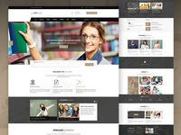 Education landing Homepage