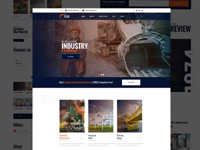 Factory & Industry Landing - Homepage