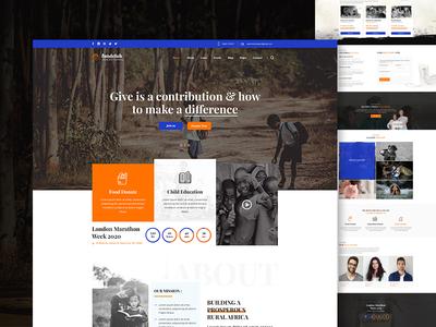 Charity - Landing Homepage