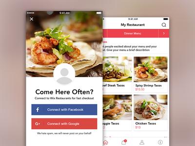 Online Ordering App wix orders restaurant ios native app mobile