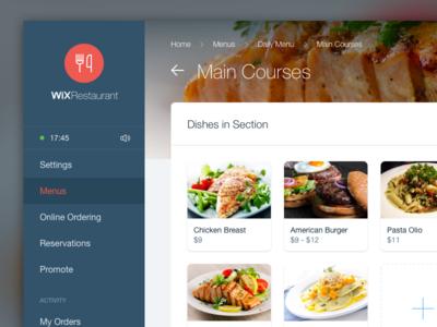 Restaurant dashboard food dishes menus restaurant dashboard