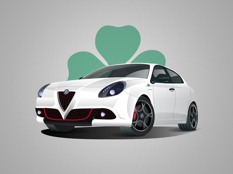 Alfa Romeo Giulietta giulietta italian sport car illustrator illustration car alfa romeo