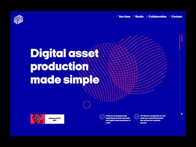 Web design concept for CTG agency