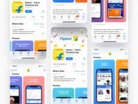 Flipkart Appstore Screens ui layout shopping coverimage colorful ecommerce screens flipkart screenshots playstore appstore