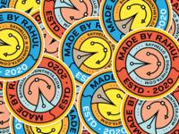Stickers - MadeByRahul sticker mule inspiration visuals decals illustrator brand logo circular logo draplin style retro graphic design instagram page stickerart stickers dsintheta madebyrahul