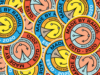 Stickers - MadeByRahul sticker mule inspiration visuals decals illustrator brand logo circular logo draplin style retro graphic design instagram page stickerart stickers dsintheta madebyrahul