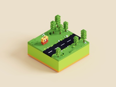 Mini Voxel Forest game design isometric art low poly art low poly illustration scene 3d art 3d pixel art gameart cute magicavoxel voxel art voxelart wallpaper isometric illustration isometric voxel