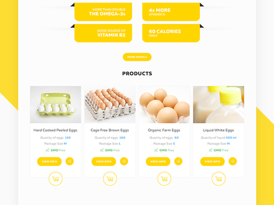 Product Cards & Nutrition List Preview