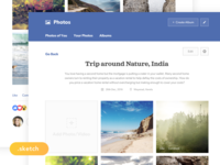 (Sketch Freebie) Facebook Photos Redesign