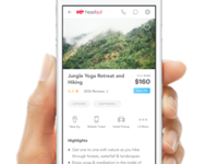 Mobile Activity/Product Details Page