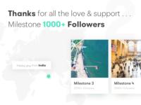 1000+ Followers Milestone