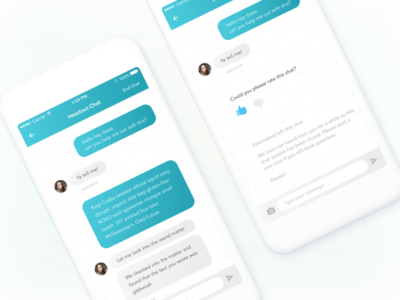 iOS Support Chat Interface