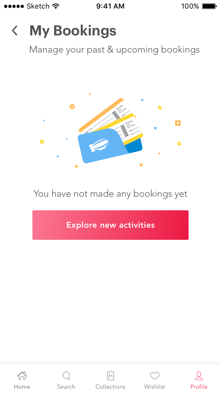 My bookings empty state attachment 1