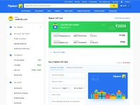 Flipkart gift cards attachment