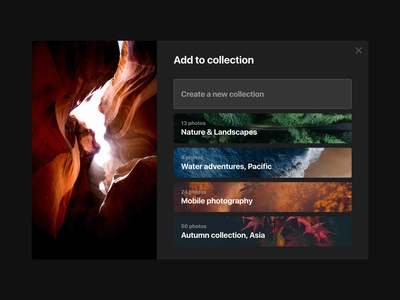 Unsplash Dark Theme (Adobe XD Freebie) adobe xd freebie free mockup trendy night unsplash photography landing page download dark theme
