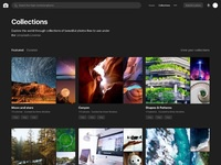 Collections page dark