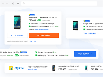 Flipkart Shopping Buddy widgets ui shopping modules flipkart extension ecommerce chrome cards buddy browser assistant
