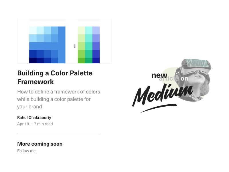 New Article on Medium palette typography article post medium design language system design language system framework color template design