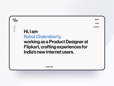 Personal Website Landing Page website readymag interface clean minimal designer typography design ui desktop landing page personal portfolio dsintheta