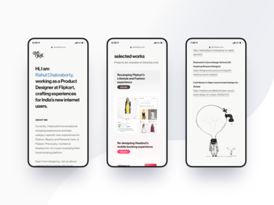 Personal Website Landing Page (Mobile)