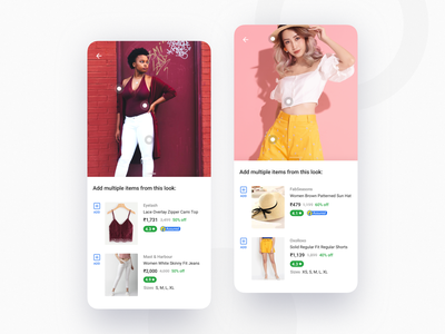 Shop The Look lifestyle fashion ui flipkart experience ecommerce design photos look lookbook product page browse women tops kurti