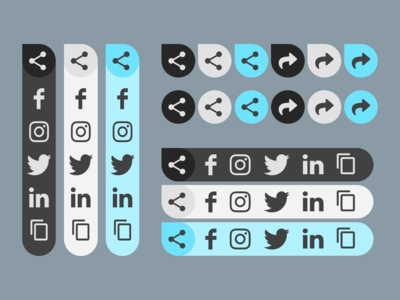 Multiple share button variations