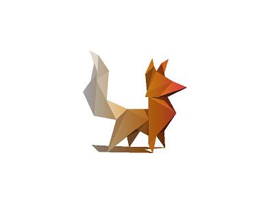 Proud Polyfox proud illustrator gradient poly animal design logo fox illustration polygon