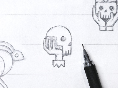 Poor Yorick lines concepts drawing sketchbook yorick rabbit skull skulls logo sketch