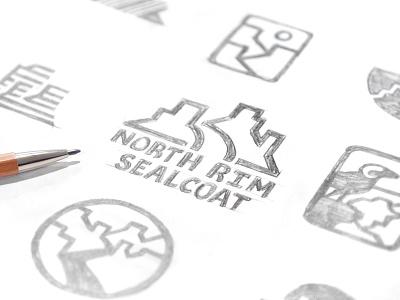 North Rim Sealcoat Sketches mesas desert graphite pencil concepts design mark logo wip sketch
