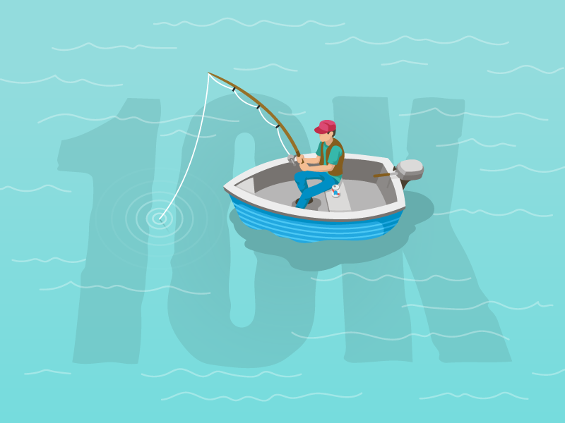 10k fisherman illustration dribbble