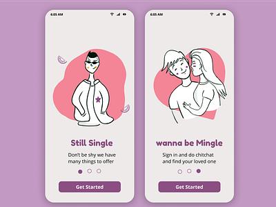Onboarding of dating app onboarding 023 dating onboarding app ui daily 100 challenge dailyui figma