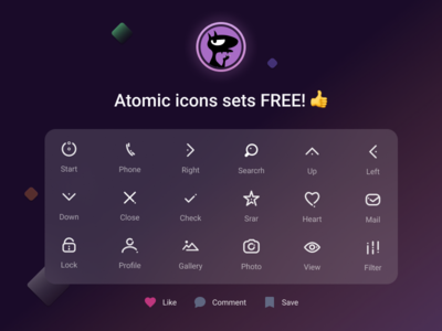 Atomic icons sets FREE! 👍 free icon set free icons free icon ui  ux uiux download free icons download free free mobile icons mobile icon mobile app icon designers app icon design app icons app icon icon design iconography icons icon set icon