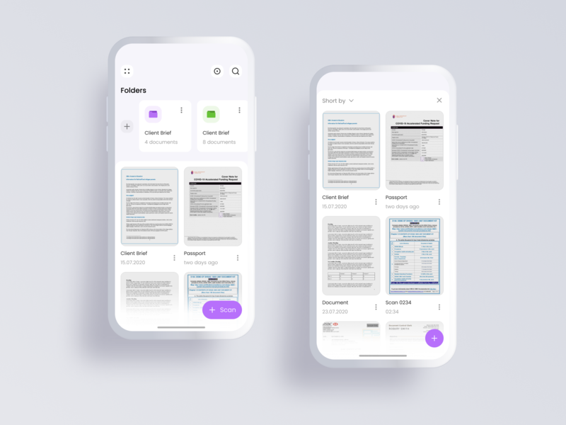 Scanner Pro design concept uiux ux ui scanner mobile ui mobile apple design app