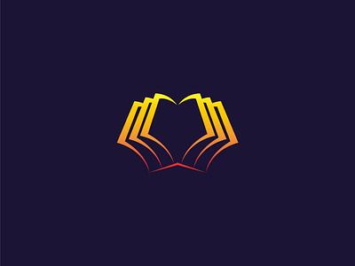 Book Logo design template 3d logo book book logo card symbol branding blue business design abstract vector icon logo