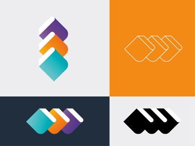 Book Logo Design Template minimal web app symbol blue business abstract vector icon logo design