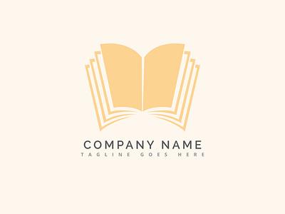 Book Logo Design typography app branding illustration book logo abstract vector icon business design logo