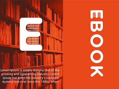 Ebook logo Design web card typography app icon business abstract design vector logo