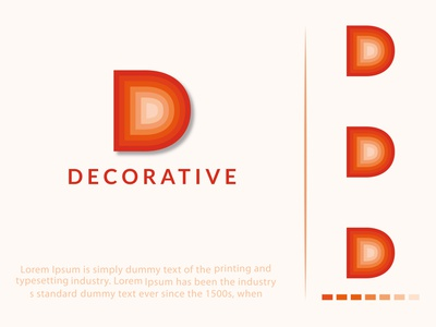 Decorative D Latter Logo Design decorative logo design latter ui web illustration branding business abstract vector icon logo design
