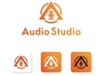 Audio Studio Logo Design Template symbol audio studio logo flat web ui ux app abstract icon vector logo design