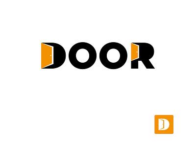 Door Logo website app minimal flat ux ui icon abstract vector logo