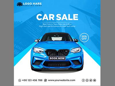 Car sale social media post template business ui branding abstract design illustration vector graphic design