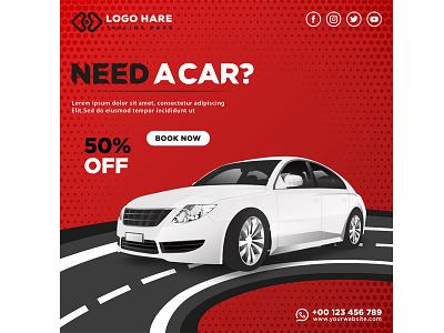 Car rent social media post design illustration business vector abstract banner branding graphic design