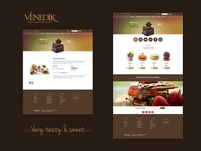 Venedik Cafe design web