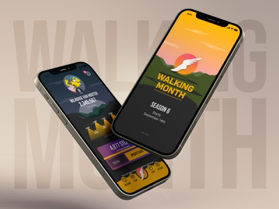 Walking Month 2020 mobile game design game walking month mobile ui ios app