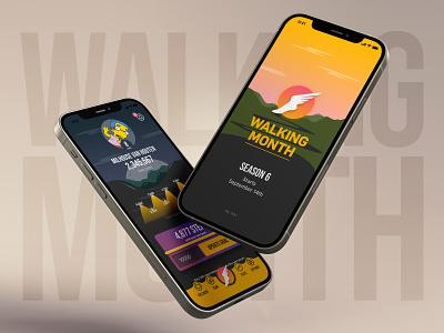 Walking Month 2020 mobile game design game walking month mobile ui ios app