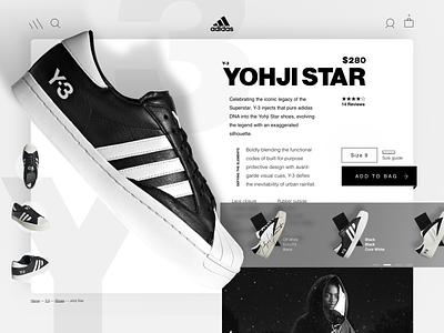 Adidas Y-3 shop ecommerce adidas superstar superstar yohji yamamoto y-3 adidas