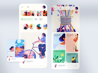 Social app 🙏 Brad Cuzen profile mobile